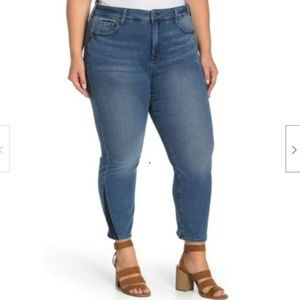NYDJ Jeans Sheri Ankle Two Tone Jean Stretch Denim